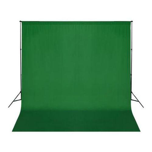 Vidaxl  tło fotograficzne, bawełniane, zielone (8718475814528)