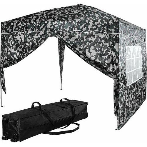 Ekspresowy pawilon namiot ogrodowy 3x3 kolor miejski + 2 ścianki - jasny moro (kamuflaż miejski) marki Instent ®