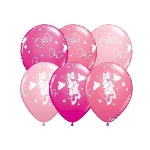 Balony urodzinowe myszka minnie - 30 cm - 5 szt marki Go