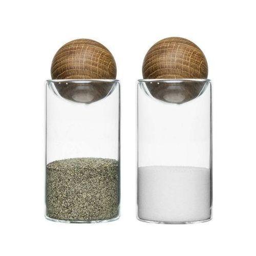 Zestaw do soli i pieprzu oval oak marki Sagaform