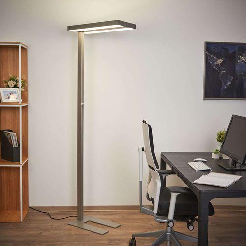 Lindby Nowoczesna lampa stojąca aluminium zawiera led ściemnialna - logan