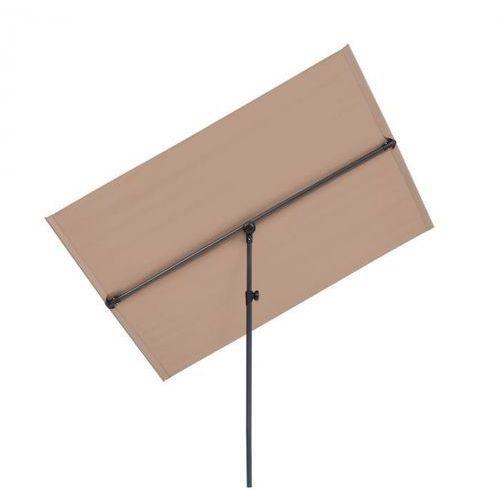 Blumfeldt flex-shade l, parasol przeciwsłoneczny, 130 x 180 cm, poliester, uv 50, szarobrązowy