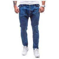 Otantik Granatowe spodnie jeansowe joggery męskie denley 811