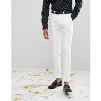 Noose & monkey super skinny tuxedo suit trousers - white
