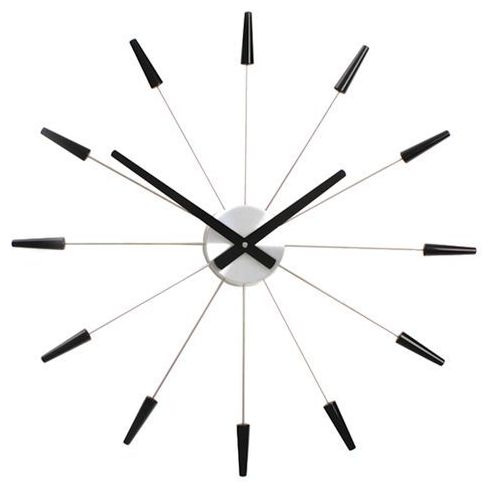 Zegar Nextime Plug Inn 58 cm black, 2610 zw