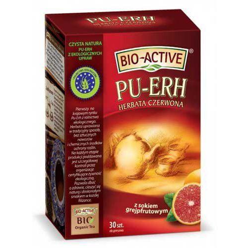 BIO-ACTIVE Herbata czerwona Pu-Erh - z sokiem grejpfrutowym 20x2g