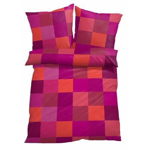 """Pościel """"Katie"""" bonprix szaro-jasnoróżowy, kolor fioletowy"""