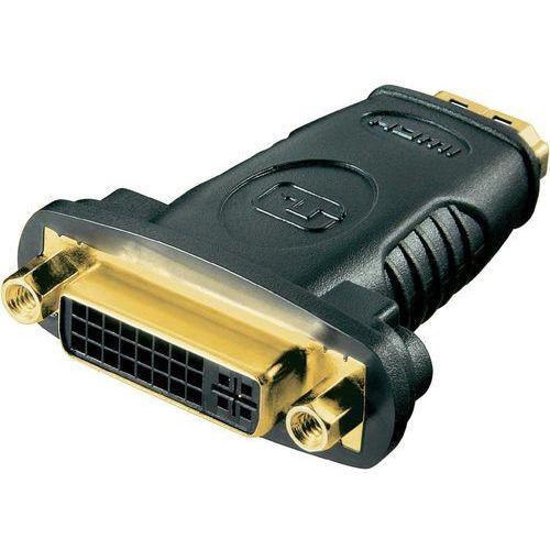 Przejściówka, adapter HDMI, DVI Goobay 68690, [1x złącze żeńskie HDMI - 1x złącze żeńskie DVI 29-pin], pozłacane styki, 68690