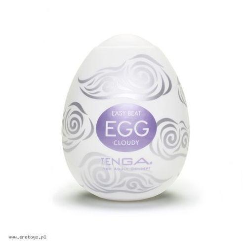 egg easy ona cap cloudy purple zestaw masturbatorów jednorazowych w kształcie jajka fioletowy 6 sztuk marki Tenga