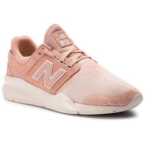 Sneakersy - ws247hpc pomarańczowy marki New balance