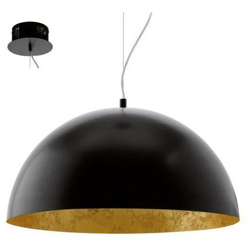 Eglo Lampa wisząca gaetano 94228 zwis 1x24w led czarna/złota