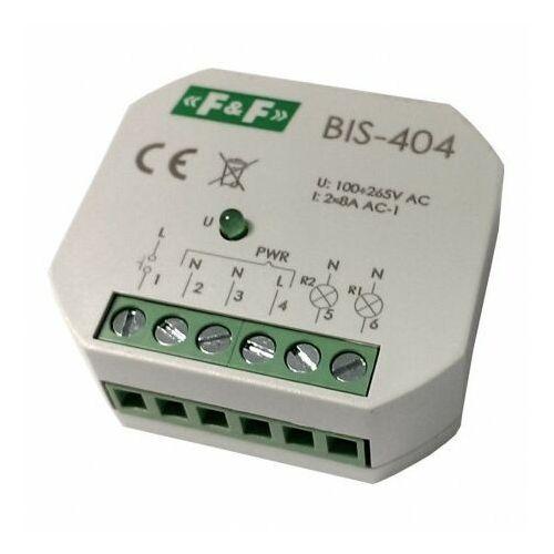 Przekaźnik bistabilny impuls. BIS-404 sekwenc. świecznikowy 265V max8A F&F 5748