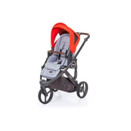 Abc design  wózek dziecięcy cobra plus graphite grey-flame, stelaż cloud / siedzisko graphite grey (4045875037948)