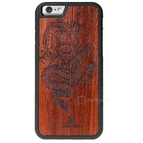 czerwony smok padouk etui na telefon iphone 6 plus/6s plus - czerwony smok padouk marki Bewood