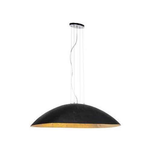 Przemysłowa lampa wisząca czarna ze złotem 115 cm - magna marki Qazqa