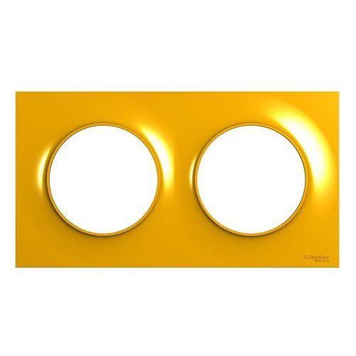 Ramka podwójna Schneider Electric Odace pomarańczowa (3606481212320)