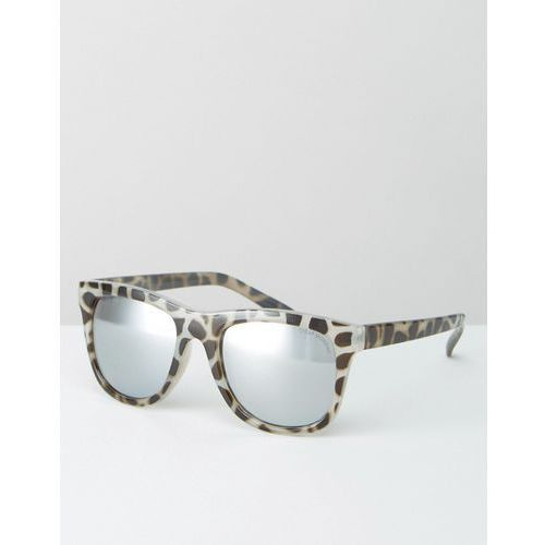 flat top sunglasses in tortoise with mirror lens - brown marki Cheap monday
