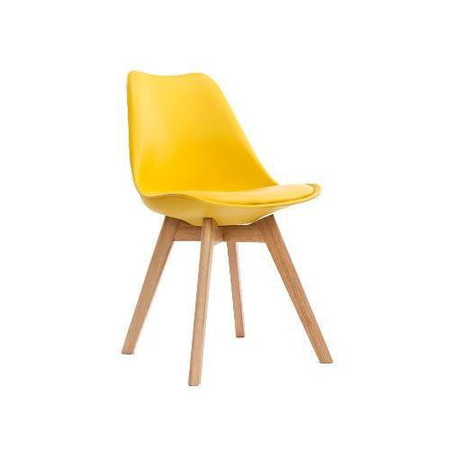 Krzesło nordic żółte z poduszką marki Kh