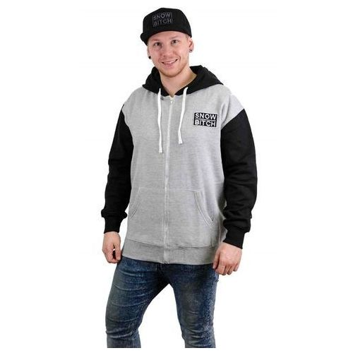 - o.g. patch zip gray black black-gray (black-gray ) rozmiar: s, Snowbitch