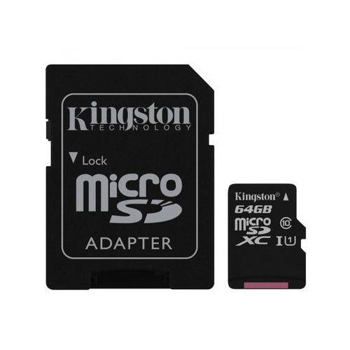 Kingston Karta 64gb microsdxc + adapter c10 sdc10g2/64gb
