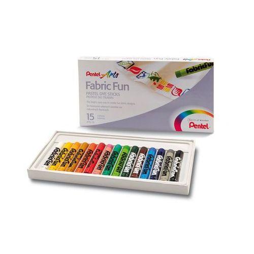 Pentel Kredki pastele do tkanin 15 kolorów