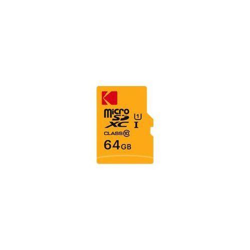 Karta pamieci KODAK microSDXC 64GB Class 10 UHS-1 U1 + Adapter (3126170143600)