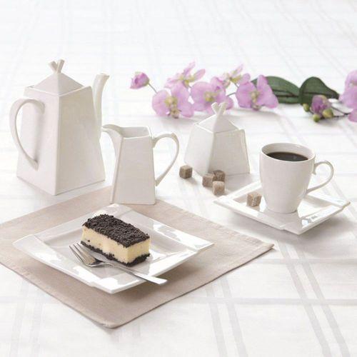 Komplet porcelanowy kawowy Kubiko - 23elem. (śr. 260), 62367