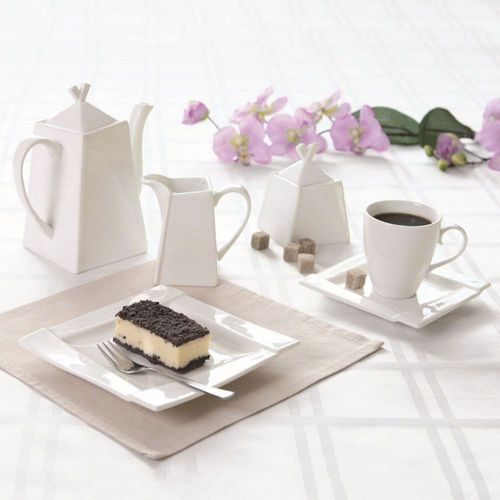 Komplet porcelanowy kawowy Kubiko - 23elem. (śr. 260)