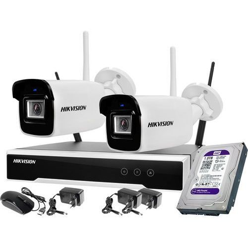 2 kamerowy zestaw monitoringu wifi 4mpx 1tb marki Hikvision