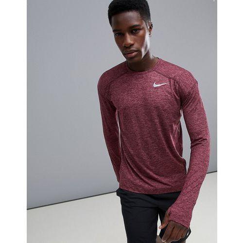 Nike running dry element crew neck sweat in purple 910034-652 - purple