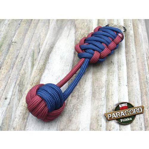"""Paracord polska Brelok survivalowy monkey's fist """"pięść małpy"""", kolor: """"dark red - dark blue"""""""