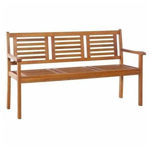 Drewniana ławka ogrodowa Infis 2X - brązowa