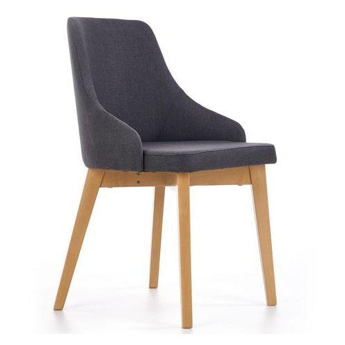 Halmar Wygodne krzesło na drewnianych nogach w kolorze dąb miodowy toledo