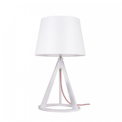 Lampa stołowa Spot Light Konan 1x60W E27 biały/czerwono-biały/biały 6511502 (5901602337028)