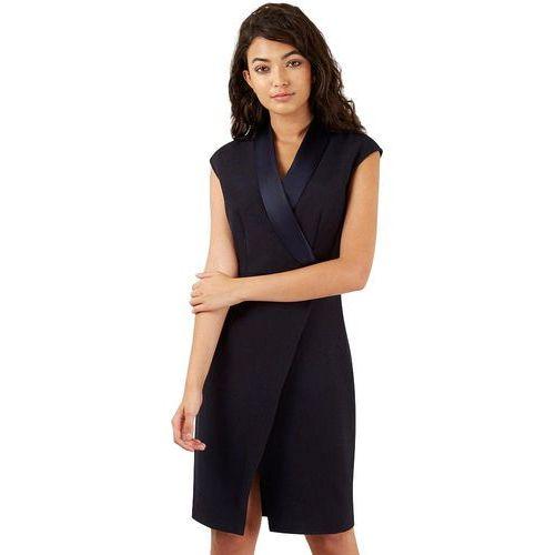 Closet London sukienka damska 40 ciemny niebieski, kolor niebieski
