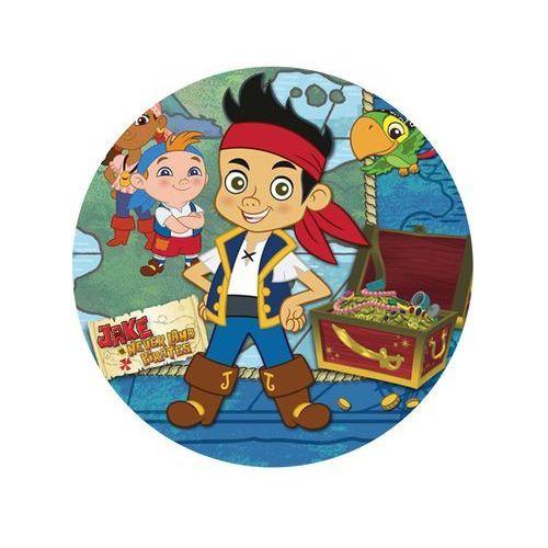 Modew Dekoracyjny opłatek tortowy jake i piraci z nibylandii - 20 cm - 5