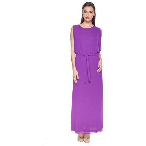 Długa, fioletowa sukienka - Vito Vergelis, kolor fioletowy