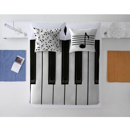 komplet pościeli keyboard 220x200cm, 220x200/70x80cm marki Dekoria