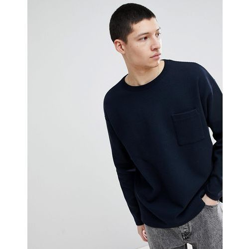 hopper structure long sleeve t-shirt - blue marki Weekday