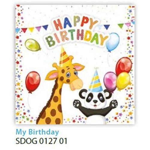 Serwetki 33 x 33 cm SDOG 012701 Happy birthday