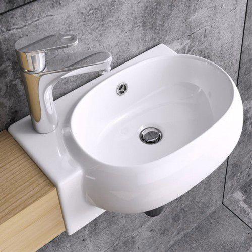 Umywalka ścienna ceramiczna c001 l/r marki Liniger
