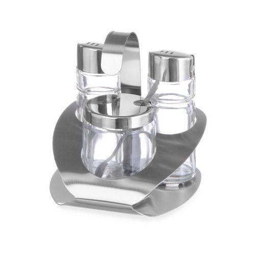Komplet do przypraw 3-częściowy - solniczka, pieprzniczka, musztarda | HENDI, 465332