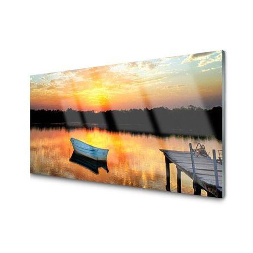 Tulup.pl Obraz akrylowy łódka most jezioro krajobraz