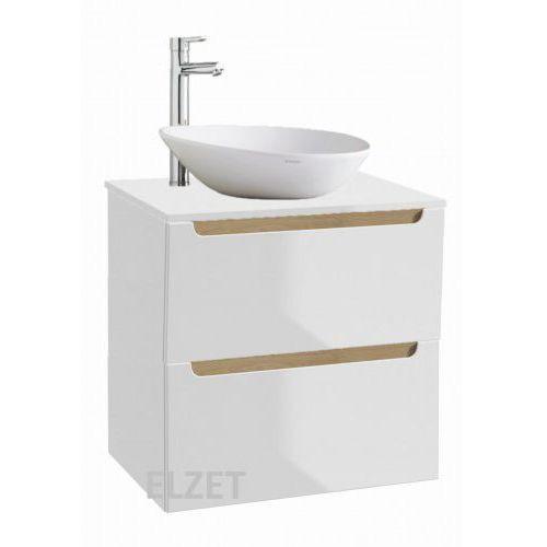 ONAS szafka Stilla 2S (D60+B60) biała pod umywalkę nablatową + blat 60 biały 190-D-06026+190-B-06002+125-F-06001, 190-D-06026.190-B-06002.125-F-06001