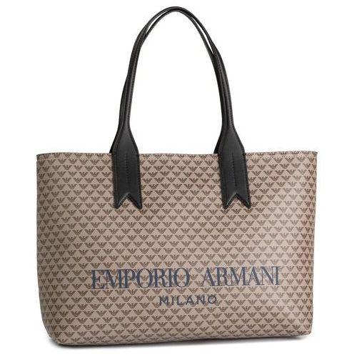 Torebka EMPORIO ARMANI - Y3D099 YFG6A 83941 Ecru/T.Moro/Nero, kolor brązowy