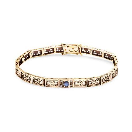 Kolekcja Wiktoriańska - bransoletka z szafirem i diamentami