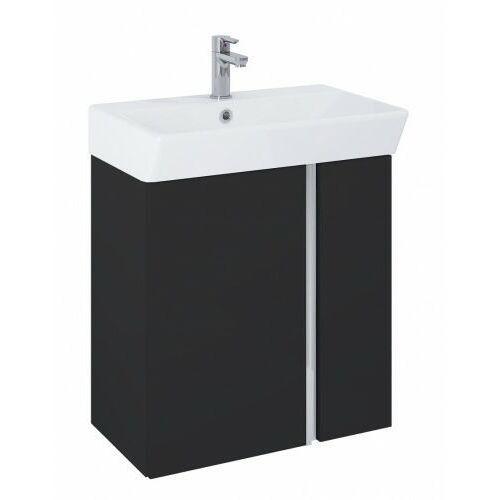 ELITA szafka Skye black matt + umywalka 60 168353, kolor czarny
