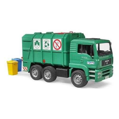 MAN śmieciarka z tylnym załadunkiem zielona Bruder 02753