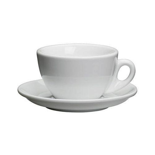filiżanka do cappuccino, ze spodkiem, 0,1 l, biała, CI-215014 (10956942)