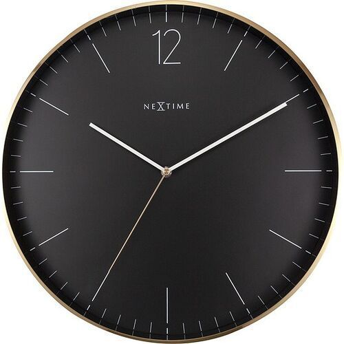 Nextime Zegar ścienny essential xxl złoto-czarny